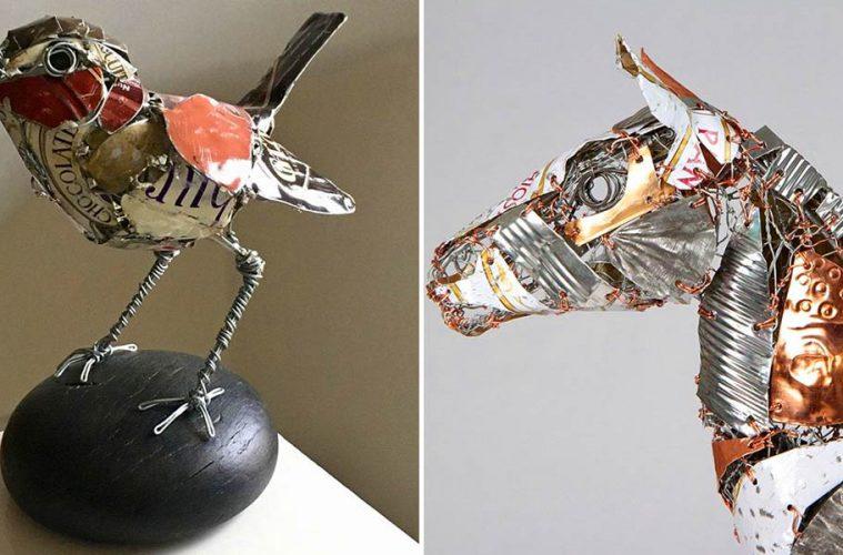 scrap metal sculptures