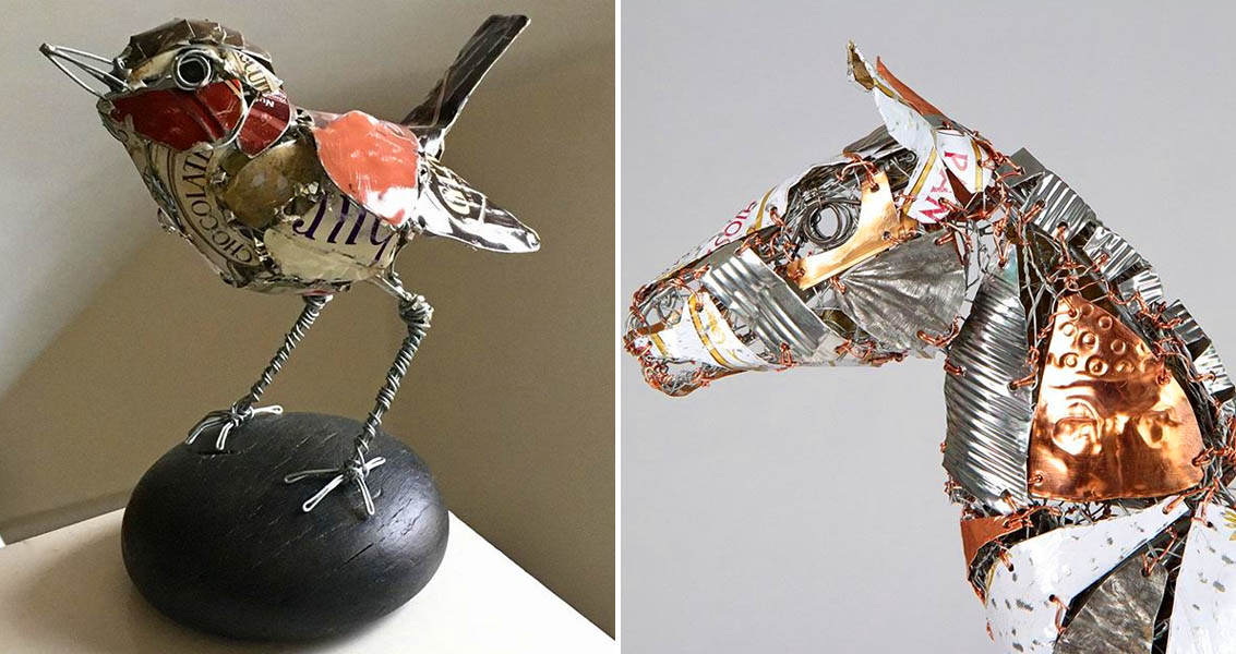 Artist Barbara Franc Creates Amazing Sculptures Of Animals From Discarded Objects