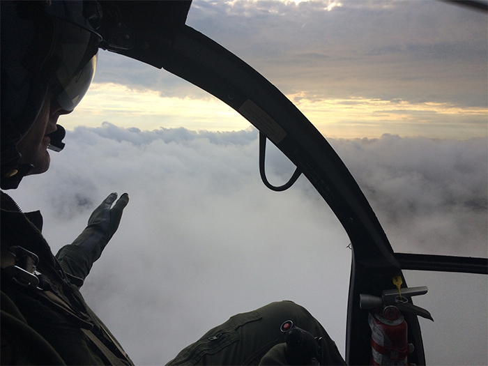 son asks pilot father to touch the clouds