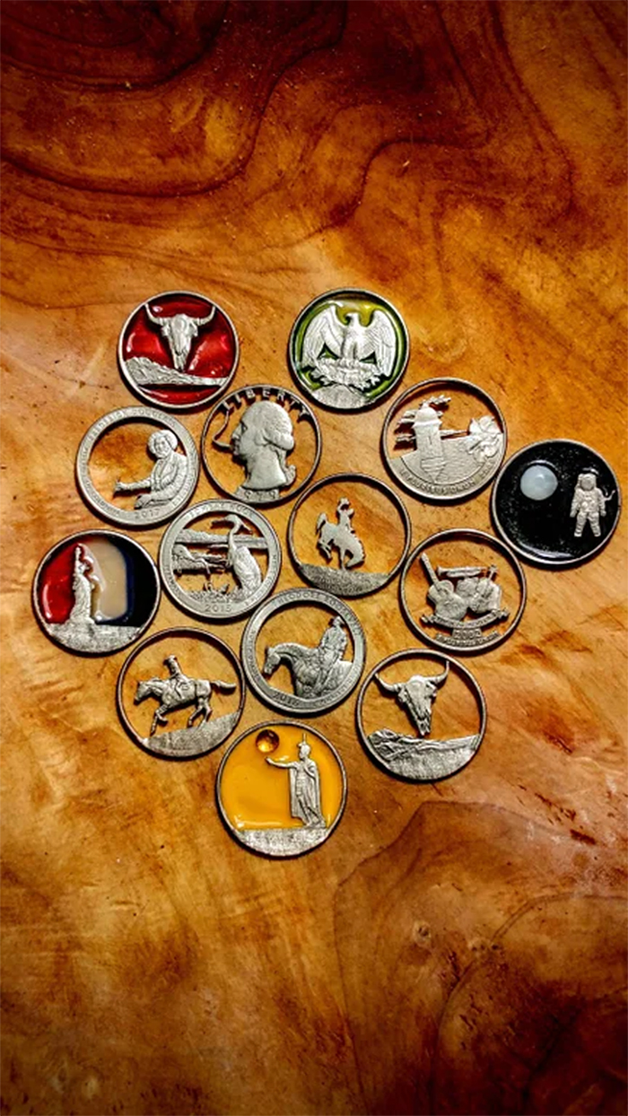 strange collections piercing state quarters