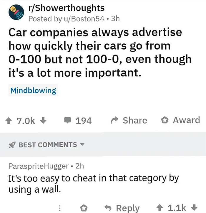 technically the truth car adverstisement
