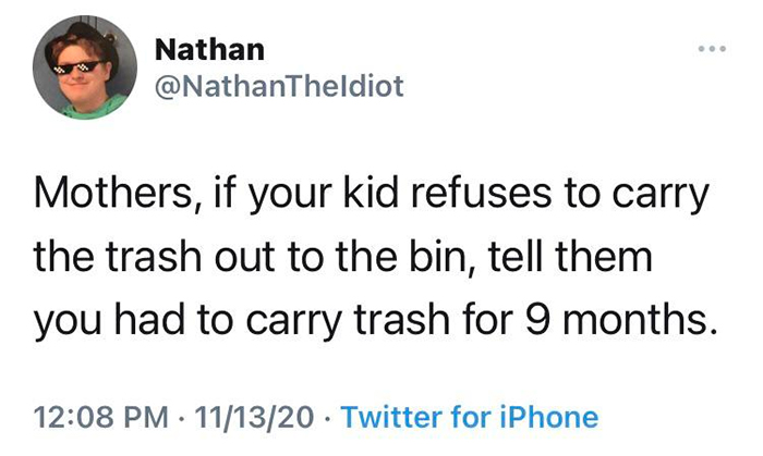 technically the truth carry trash