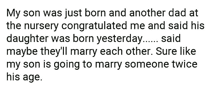 technically the truth marrying twice his age