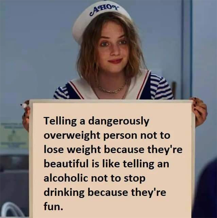 technically the truth overweight is beautiful