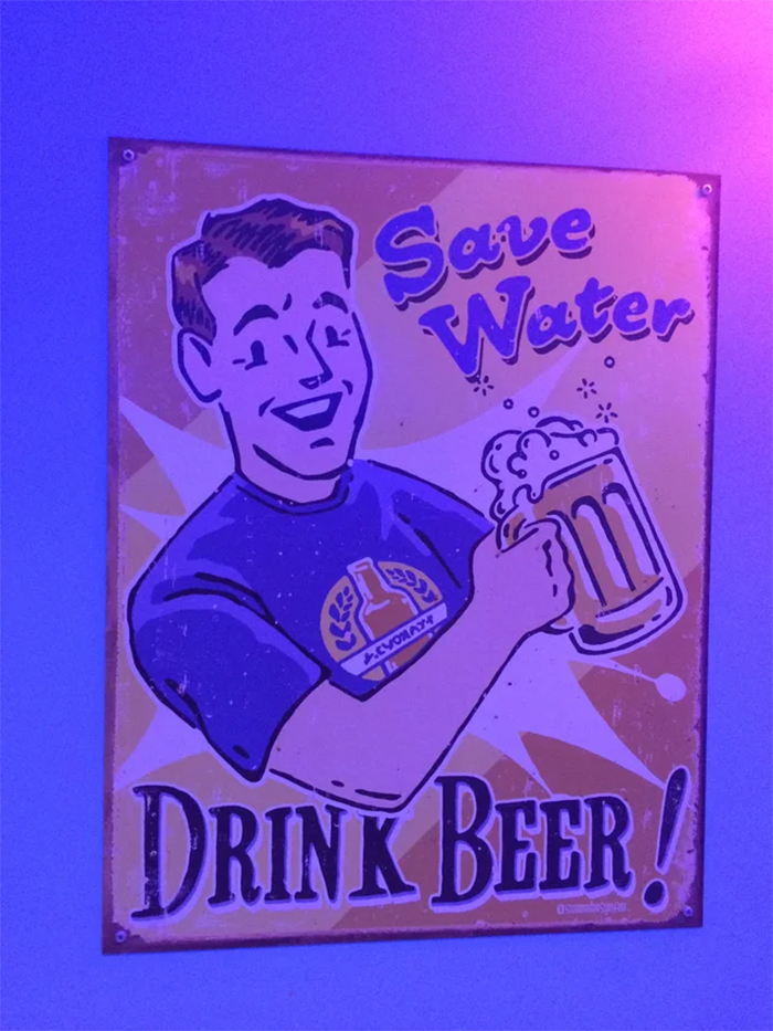 technically the truth save water drink beer