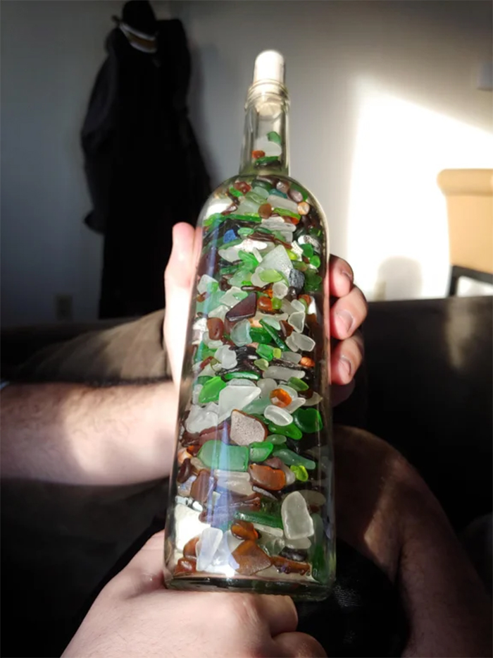 two years collecting sea glass