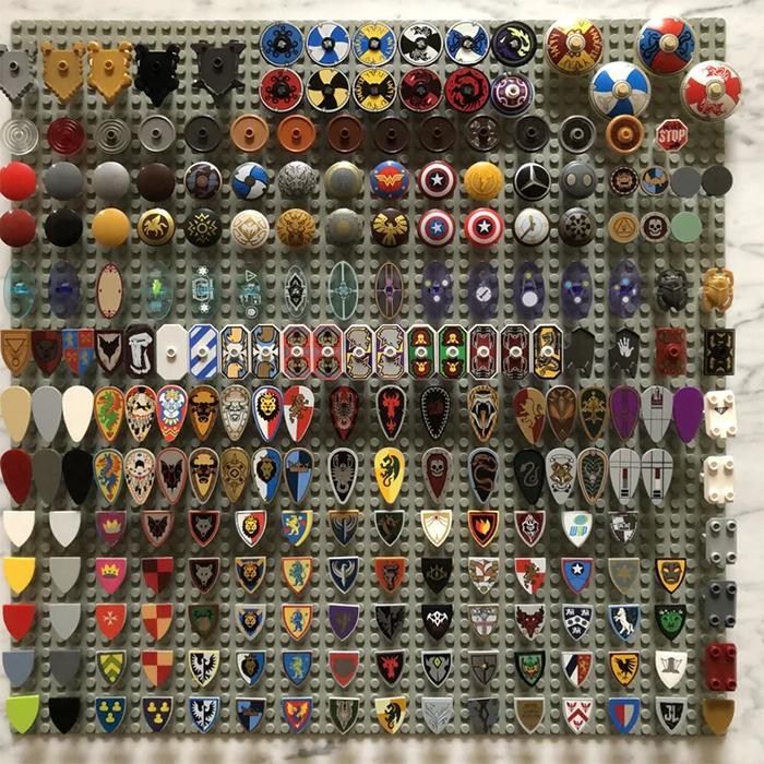unique collectibles lego shields