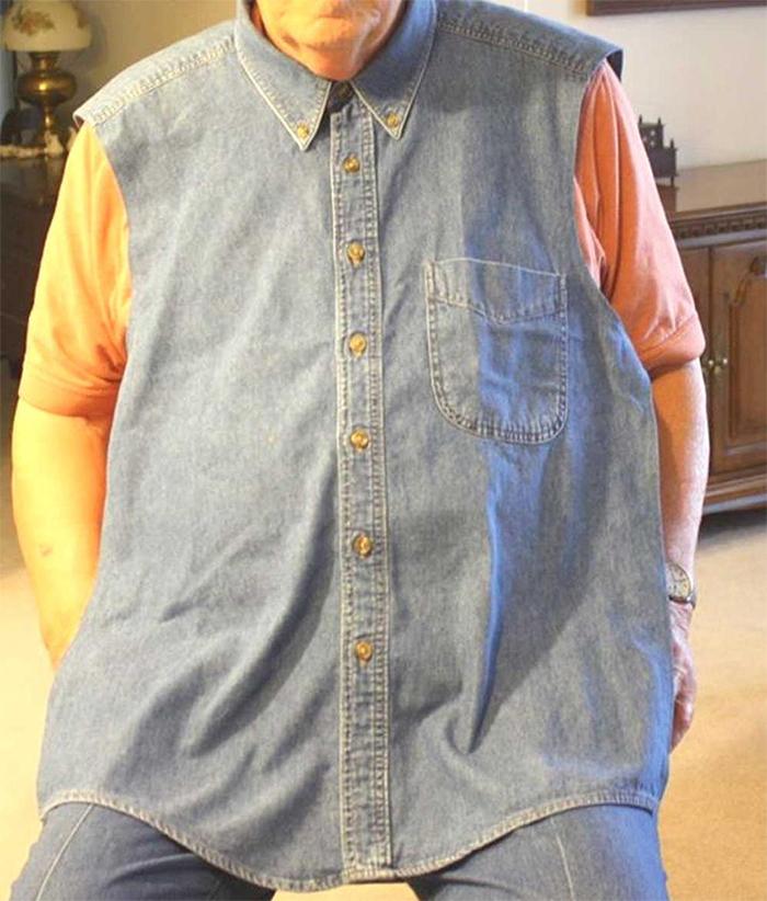 upcycled mens shirt clothing protector