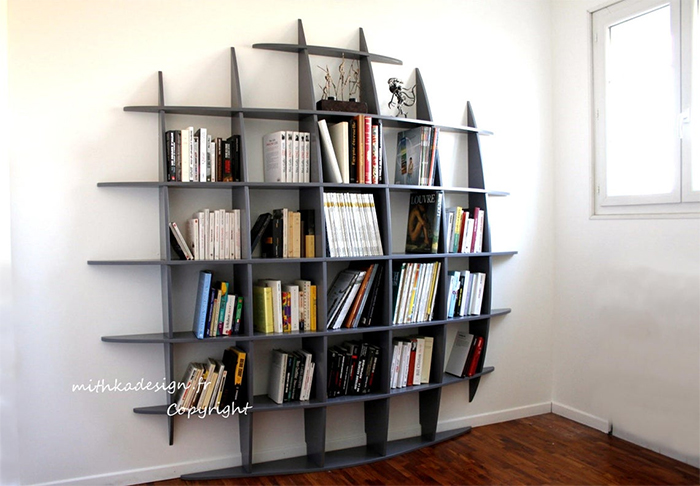 wall mount 3d sphere bookshelf