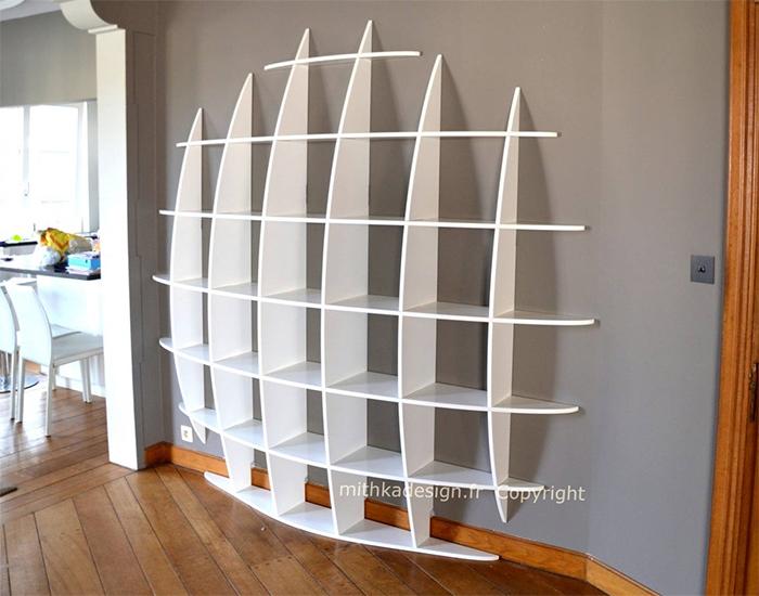 wall-mounted 3d sphere bookshelf