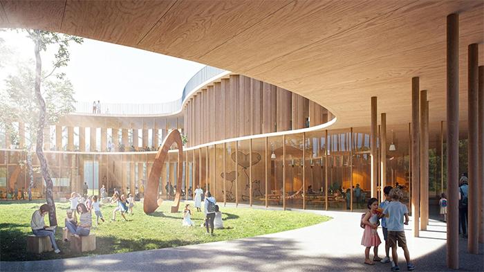 wooden tree-house school