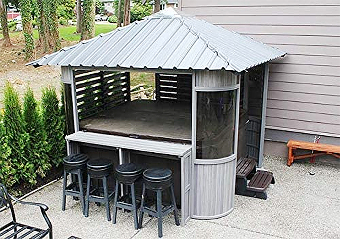 zento ultrawood hot tub gazebo