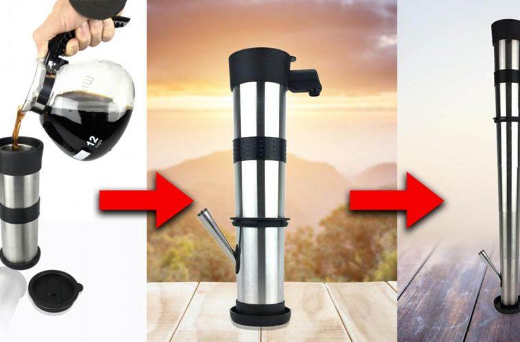 Telescoping Coffee Mug bong