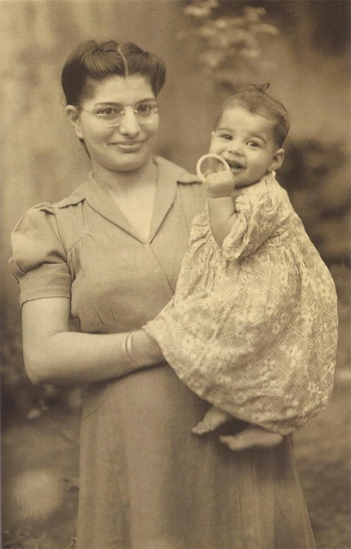 baby freddie mercury with his mother