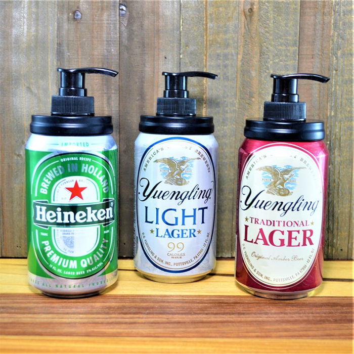 beer can soap dispensers