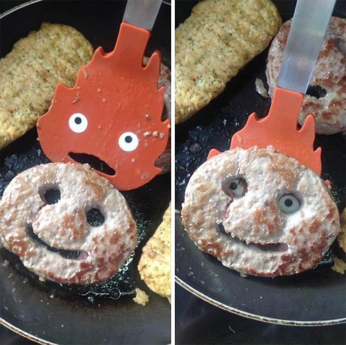 calcifer spatula cookie face