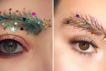 christmas tree eyebrows