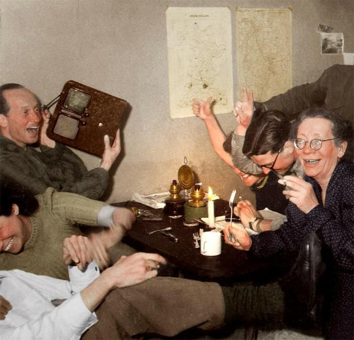 dutch resistance celebrate hitler death