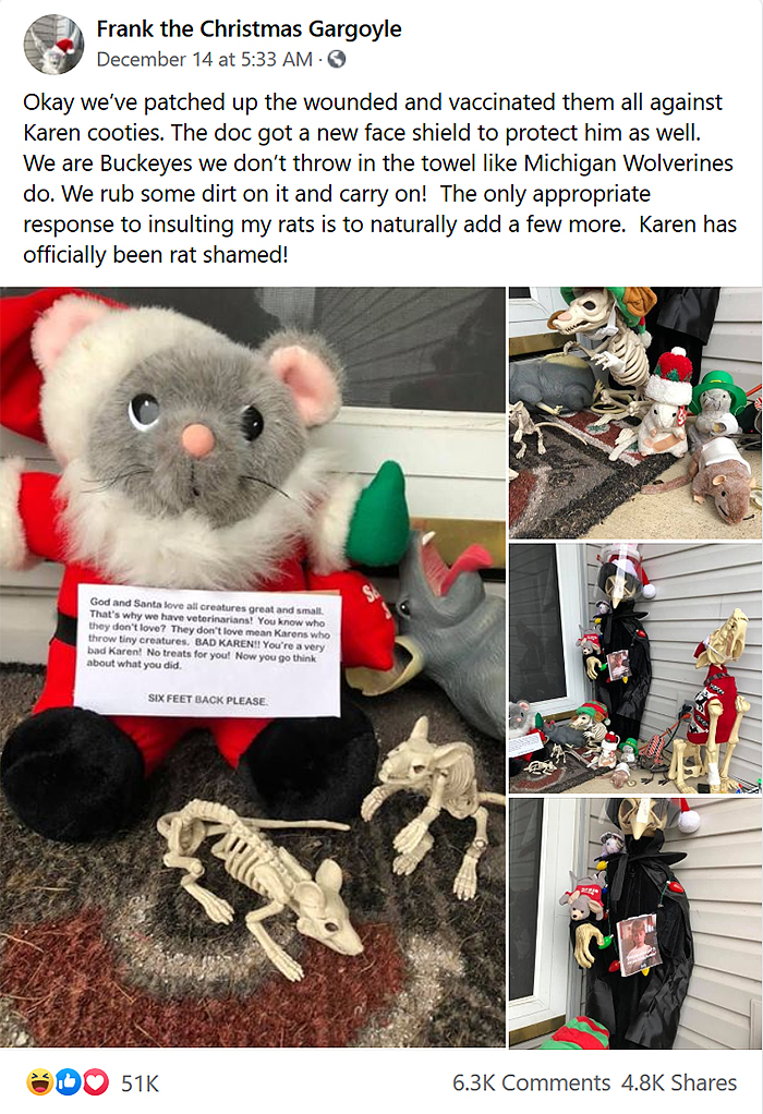 entitled neighbor destroys christmas decors