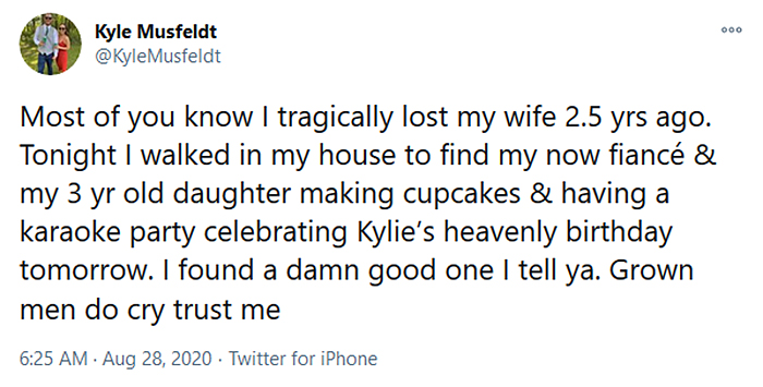 fiance and daughter celebrates late wife birthday