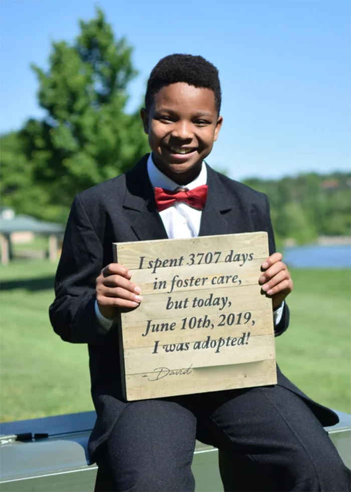 foster kid finally adopted