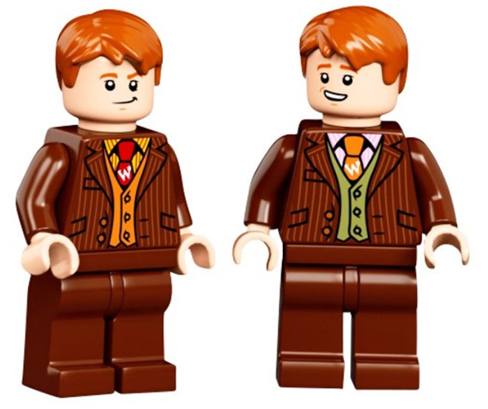 fred weasley and george weasley minifigures