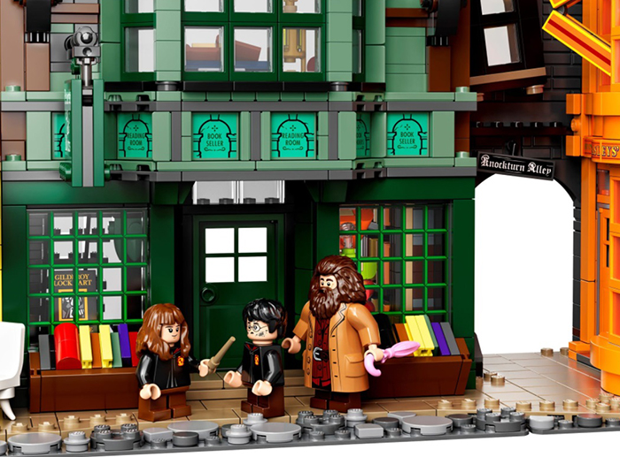 hermione harry and hagrid minifigures
