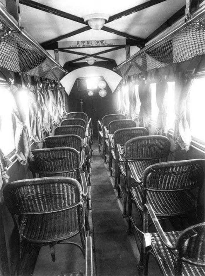 inside of an airplane 1930