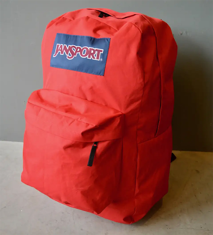jansport giant backpack red