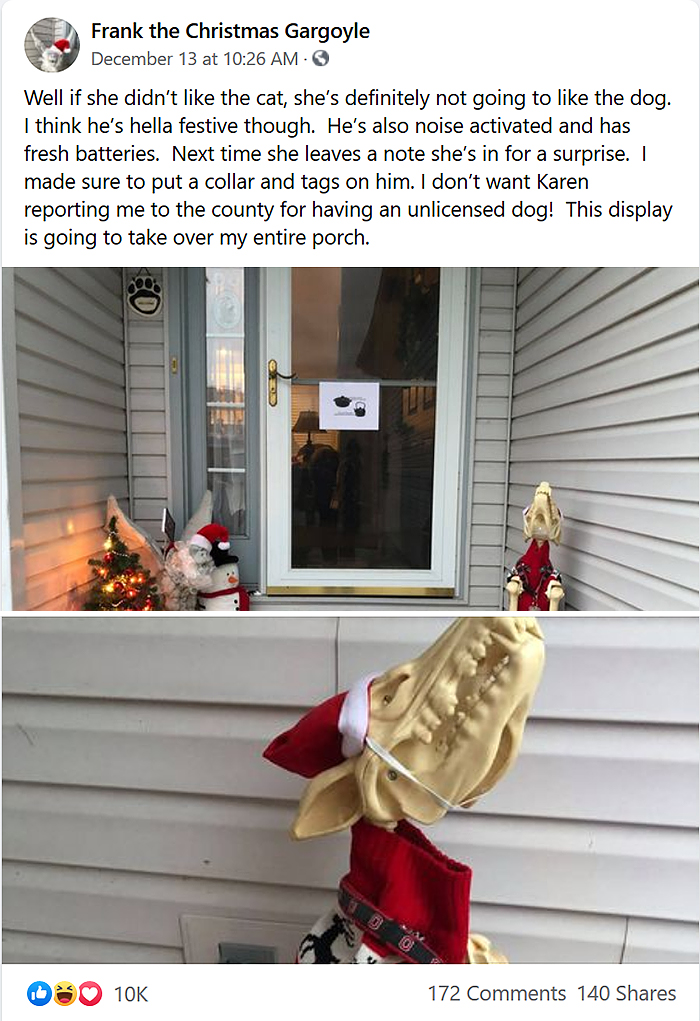 karen dislikes skeleton christmas decors