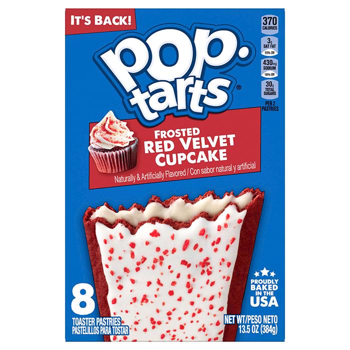 kelloggs pop-tarts frosted red velvet cupcake