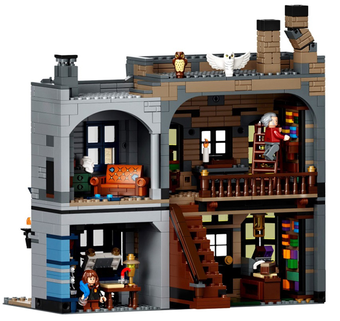 lego harry potter diagon alley set building 1