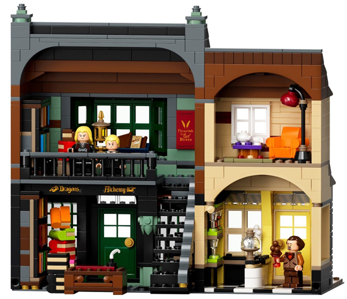 lego harry potter diagon alley set building 3