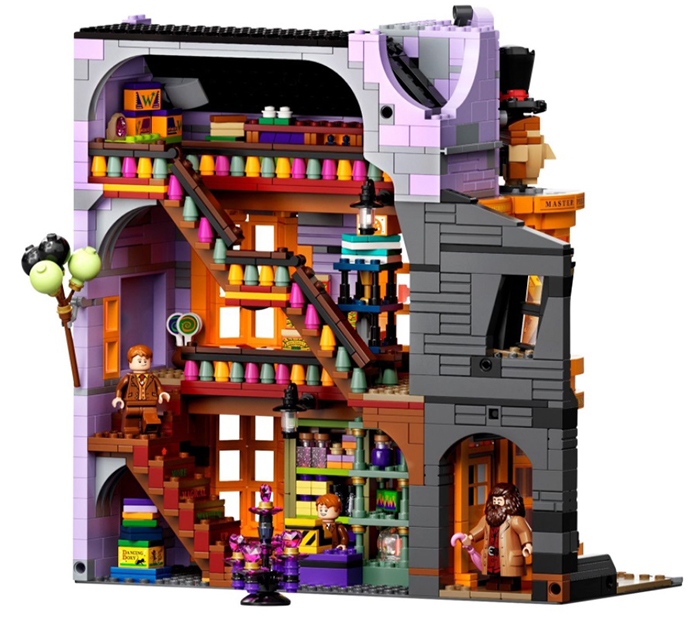 lego harry potter diagon alley set building 4