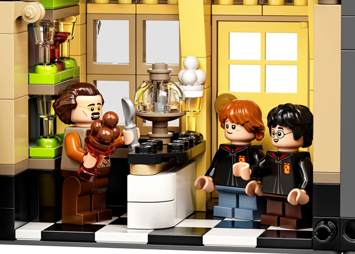 lego harry potter diagon alley set florean fortescue's ice cream parlor