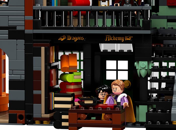 lego harry potter diagon alley set flourish and blotts