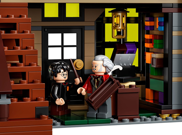 lego harry potter diagon alley set ollivanders wand shop