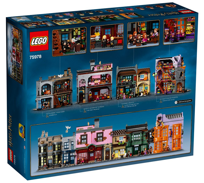 lego harry potter diagon alley set packaging back