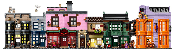 lego harry potter diagon alley set shops front
