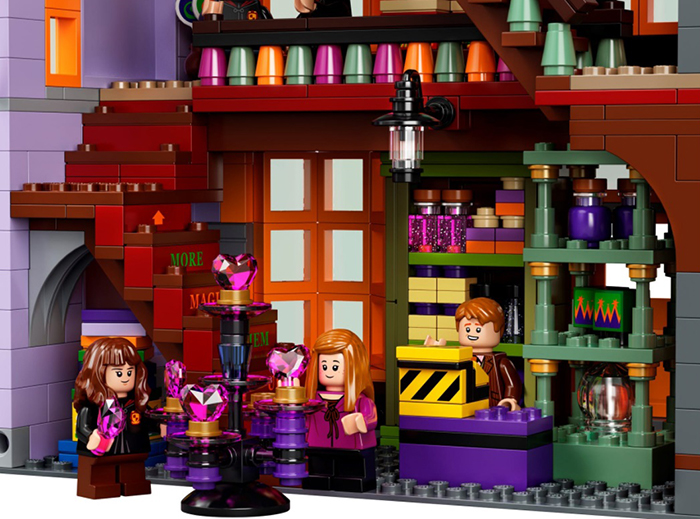 lego harry potter diagon alley set weasley's wizard wheezes