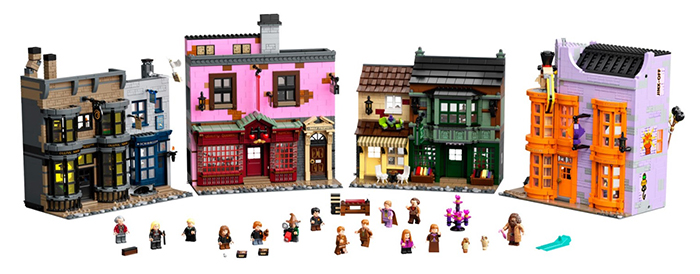 lego harry potter diagon alley set with minifigures