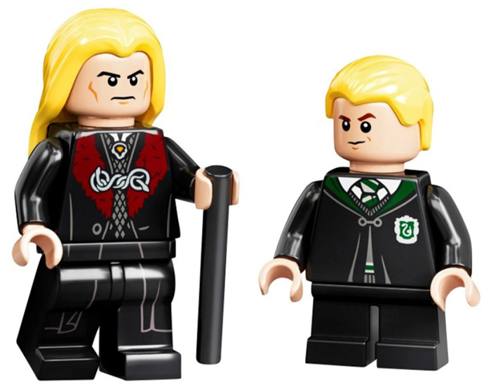 lucius malfoy and draco malfoy minifigures