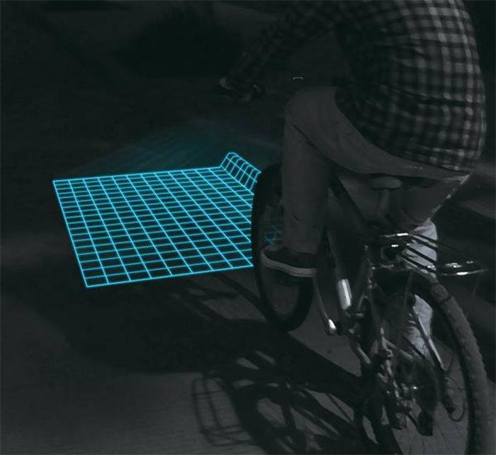 lumigrids bicycle laser grid projector
