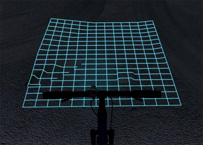 lumigrids laser grid projector for bicycles