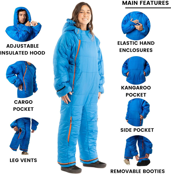 main features of the insulated onesie