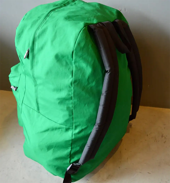 massive jansport knapsack green