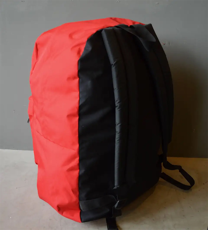 massive jansport knapsack red