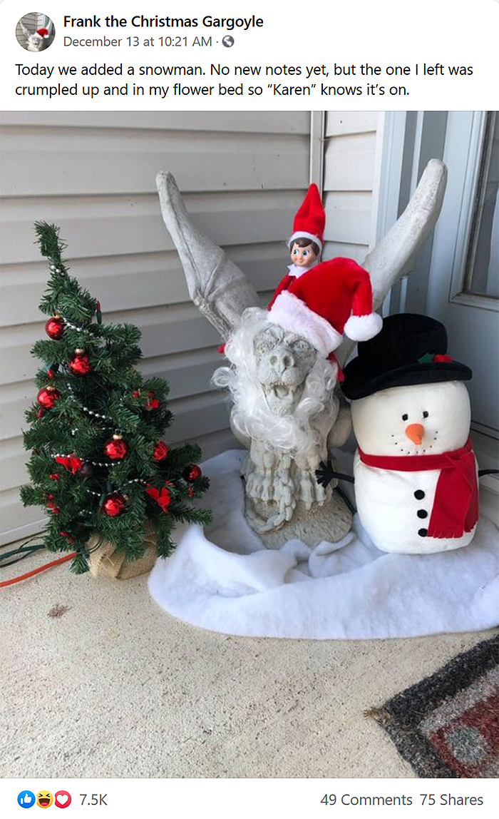neighbor complains about porch gargoyle