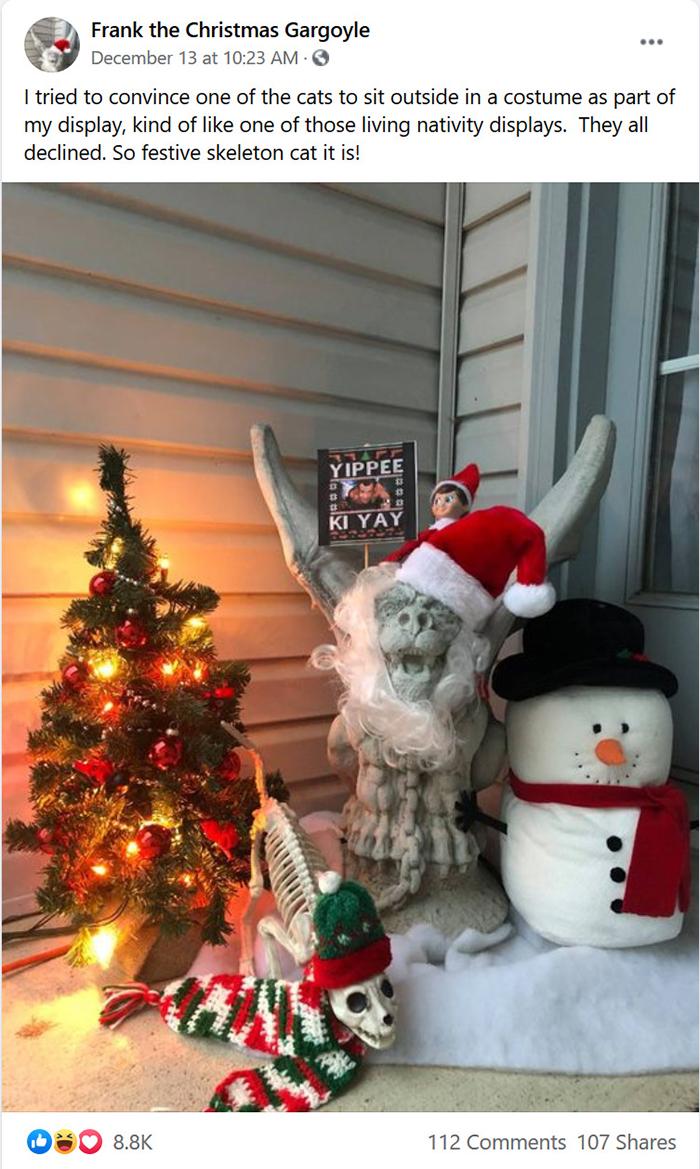 neighbors note feud over porch gargoyle
