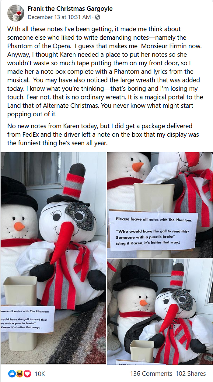 note war with entitled neighbor karen